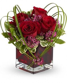 Teleflora's Sweet Thoughts Bouquet with Red Roses Flowers