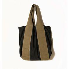 Large black tote bagMums bagsBlack canvas by ElenaVandelliBags. #Black_minimal. #Black_Bag. #Black_canvas