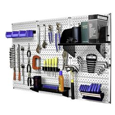 Wall Control  Metal Pegboard Standard Tool Kit Wall Mounted Storage System - ATG Stores