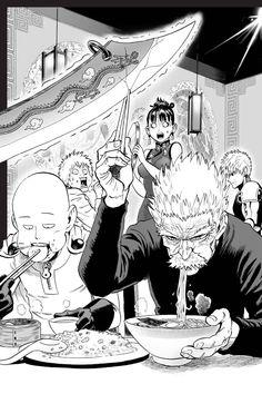 One Punch Man - Saitama and Bang One Punch Man Anime, Saitama One Punch Man, One Punch Man Funny, Manga Anime, Anime One, Manga Art, Character Art, Character Design, Anime Comics