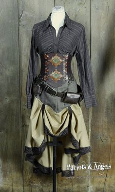 "steampunk explorer | 26"" waist Steampunk UnderBust Explorer Corset Belt -available up to 40 ..."