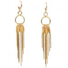 Magnifiques boucles d'oreilles cascade en argent massif ou en plaquées or. Parfaites pour une soirée ! cvaccessoires.com