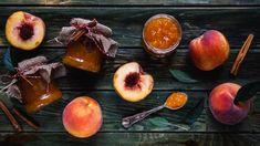 """Broskvová """"marmeláda"""" s rumem a skořicí - Proženy Preserves, Pesto, Pickles, Rum, Onion, Vegetables, Food, Lemon, Preserve"""