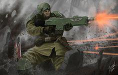 Cadian Heroes by Luzbelserk