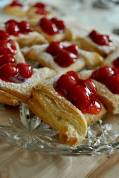 Little Bits of Happiness: Cherry Pastries. Wonderful for tea time!!