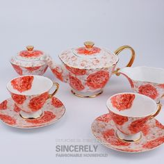 Export quality special grade 15 English bone China coffee exotic food coffee-sets