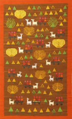 View this fun and whimsical vintage Swedish Kilim folk art Scandinavian rug #48596 from the mid 20th century by Nazmiyal in NYC.
