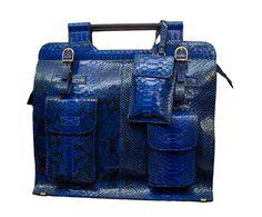 HARBA:  Bag, Limited Collection, Blue, Black, Python skin, Handmade Product, Made in Italy, limited edition, luxury, real leather, Borsa, edizione limitata, Blu, Nera, pelle di pitone, vera pelle, lusso, prodotto artigianale, italia. Size can vary: 44cm x 40cm