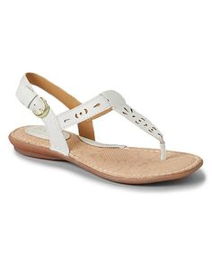 White Charel Thong Sandal by b.o.c #zulilyfinds. Just bought these..b.o.c. shoes are very confortable..love them.