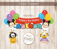 Disney Tsum Tsum Cake Topper - Customized Name  (Digital Copy)