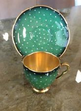 Vintage Carlton Ware Demitasse Cup And Saucer Gold Gilded Interior