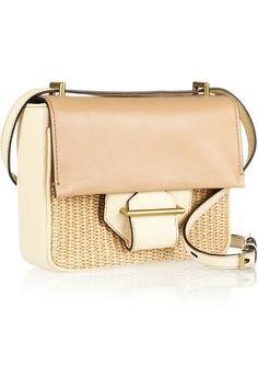 Reed Krakoff|Standard Mini raffa-trimmed leather shoulder bag|NET-A-PORTER.COM