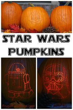 How to Make Awesome Star Wars Pumpkins - with a drill!  Tips for transferring the image onto the pumpkin, etc.