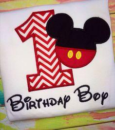 Mickey Mouse Birthday Shirt/ Monogram/ Birthday/ by MajorMonograms, $20.00