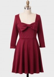 forever yours bow detail dress