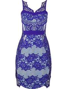 THREE FLOOR Lilith Lace Sleeveless Dress - Blue | veryexclusive.co.uk
