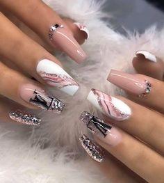 Acrylic nail art 492581277997332280 - Source by nicolerabette Edgy Nails, Stylish Nails, Swag Nails, Bling Nails, Glitter Nails, Glitter Makeup, Summer Acrylic Nails, Best Acrylic Nails, Cute Acrylic Nail Designs