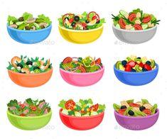 Vegetable Salad Served in Bowls Vector Set ,Fruit and Vegetable Salad Served in Bowls Vector Set ,and Vegetable Salad Served in Bowls Vector Set ,Fruit and Vegetable Salad Served in Bowls Vector Set , Dog Food Recipes, Healthy Recipes, Healthy Food, Food Truck Festival, Food Clipart, Girl Cooking, Food Icons, Food Drawing, Vegetable Salad