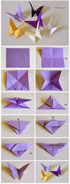 How to DIY Origami Butterfly 1