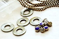 Desiree's stamped washer necklaces