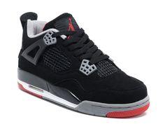 reputable site 5297e b92fb Site Air Jordan 4 Retro - Chaussures Pour Femme Noir Rouge Nike Baskets  Jordan