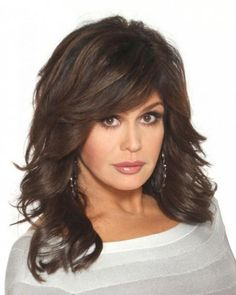 Magnificent Marie Osmond Hairstyle Formal Medium Straight Hair Beauty Hairstyle Inspiration Daily Dogsangcom