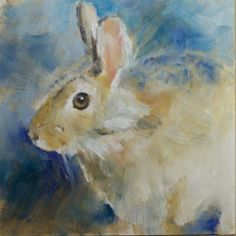 """Daily Paintworks - """"Rabbit Study"""" by Sue Churchgrant"""