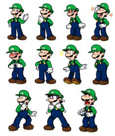 Ask Mario: Luigi Expression Sheet by Nintendrawer on DeviantArt Super Mario Smash Bros, Super Mario Art, Mario Fan Art, Mario Bros., Luigi Bros, Mario Comics, Luigi's Mansion 3, Expression Sheet, Weegee