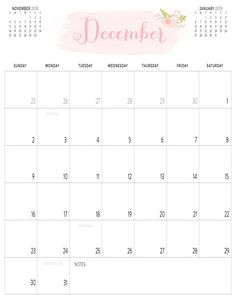 Calendar 2018 December Printable In Pdf, Word Template 2018 December Calendar, Planning Calendar, Schools, Free Printables, Career, Templates, Holidays, Crafts, Calendar