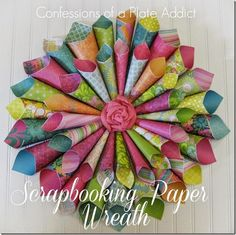 CONFESSIONS OF A PLATE ADDICT Scrapbooking Paper Wreath