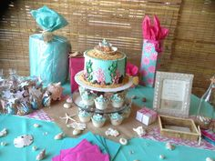 Baby Shower Themes For Twin Boy And Girl can't forget the shell napkin rings for the pink linen napkins