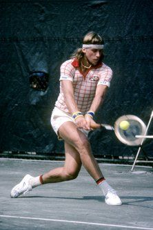 1980s Bjorn Borg wears short-shorts (and color coordinates his socks with his shirt) at the U.S. Open in 1978. The stylish Swede's look was championed in the '80s, and later by Luke Wilson in The Royal Tenenbaums.
