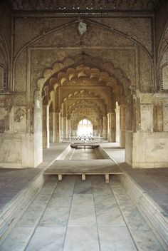 Red Fort Old Dehli India. All white inside, and yet you saw so many beautiful details.