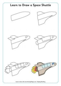 Learn to Draw a Space Shuttle