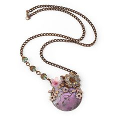 Plum Orchard Necklace By Vintaj | Fusion Beads Inspiration Gallery  #inspirationinbloom