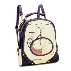 Fashion Printing Multi-Functional Cute Backpack For Women