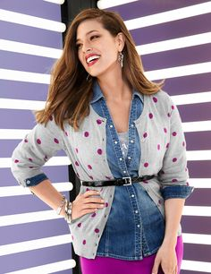 Full Figure Fitted Ponte Jacket by Lane Bryant | Lane Bryant -- I love layered looks like these, but honestly, I would die in this. Even in the winter, it would be hot in my heated office. Still super cute, though.