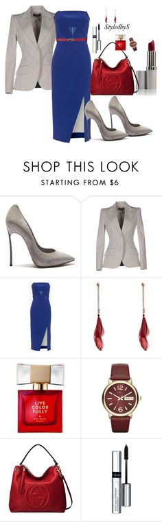 """StyledbyS"" by sforstylebys on Polyvore featuring Casadei, Dolce&Gabbana, Nicholas, Kate Spade, Marc by Marc Jacobs, Gucci, By Terry, Carven, WorkWear and DateNight"