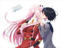 Anime Love Couple, Cute Anime Couples, Anime Girl Cute, Kawaii Anime Girl, Querida No Franxx, Anime Amor, Anime Japan, Zero Two, Best Waifu
