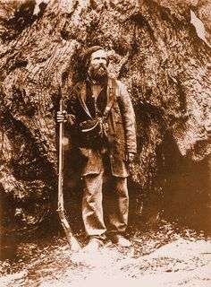 Experienced muzzle-loaders who lived in remote areas and hunted for their sustenance, like California mountain man Galen Clark, knew the value of properly loading  and handling their muzzle-loader's wooden ramrods. Shown above in this circa 1861 photo, Clark was the first to discover the giant sequoia trees in Yosemite in the  1850s, and helped to save them.  – Courtesy Phil Spangenberger Collection –