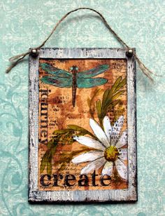 Still on Spring themed creations here and still wanting to use Tea bags. I found a stash of Earl Grey tea bags I boug. Wall Hangings, Art Projects, Vintage World Maps, Tea Cups, Mixed Media, Paintings, Fun, Crafts, Manualidades