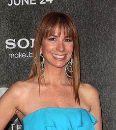 Jill Zarins sleek straight hairstyle
