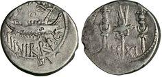 NumisBids: Numismatica Varesi s.a.s. Auction 65, Lot 121 : MARC'ANTONIO (32-31 a.C.) Denario. leg. XI. B. 118 Syd. 1229 ...
