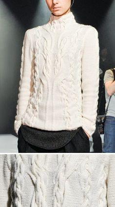 Blusa Cacharel com tranças diversificadas | Tendências Inverno 2012