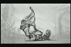 black-white-disney: Beast's transformation pencil test
