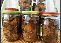 Houby ve slaném nálevu Salsa, Mason Jars, Canning, Food, Essen, Mason Jar, Salsa Music, Meals, Home Canning