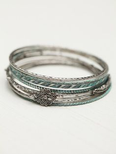 Free People Free People Filigree Skinny Hard Bangle Set, p. 239917.44