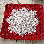 Snowflake square FREE Granny Square Pattern