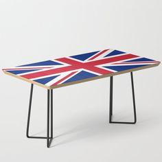 UK Flag Union Jack Coffee Table by flagsoftheworld Modern Decor, Mid-century Modern, Contemporary, Uk Flag, Flags Of The World, Modern Coffee Tables, Uk Fashion, Union Jack