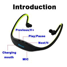 Sport Bluetooth 4.0 Headphones for iPhone, 6/5/4/Galaxy, S5/S4/S3, iOS/ Android + with Microphone3